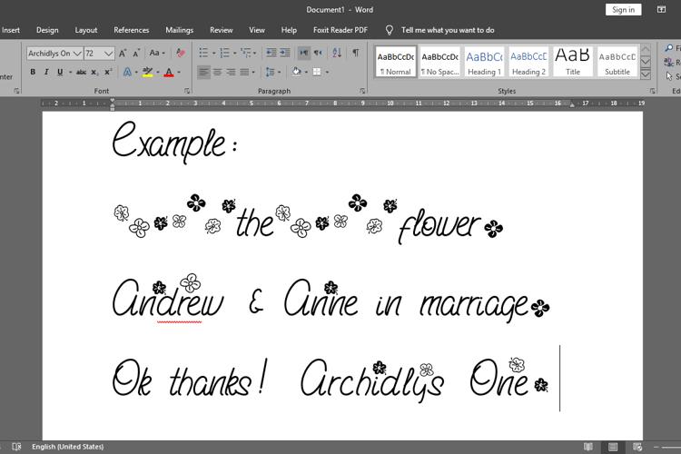 Archidlys One Font