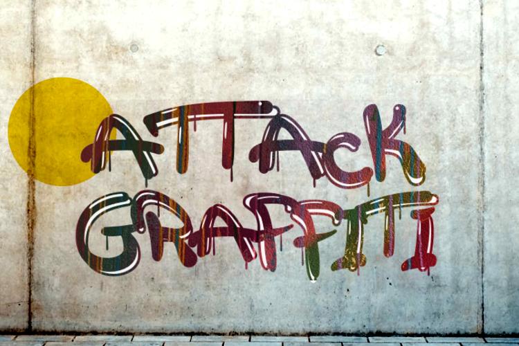 a Attack Graffiti Font