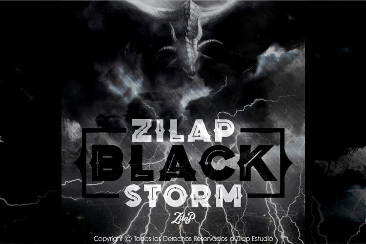 Zilap Black Storm Font