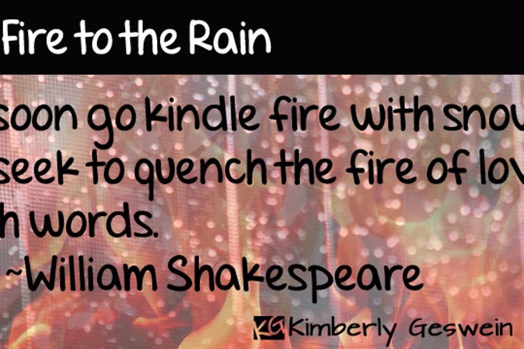 Set Fire to the Rain Font