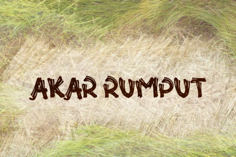 a Akar Rumput Font