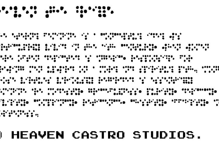 Heaven the Braille Font
