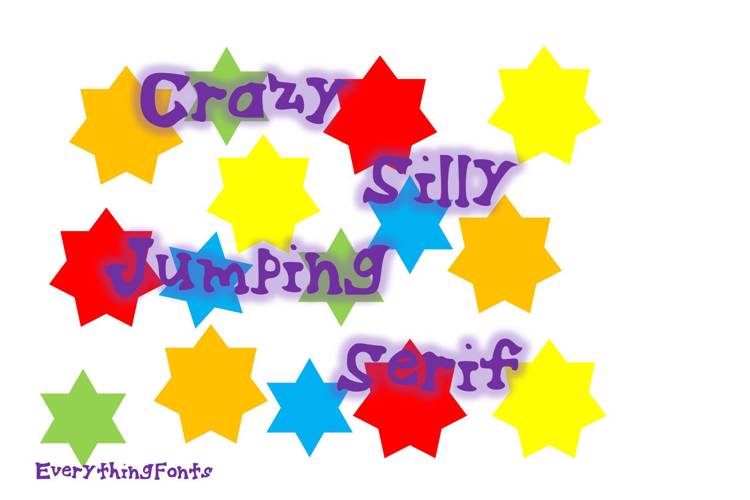 Crazy Silly Jumping Serif Font