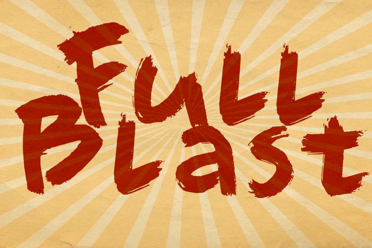 DK Full Blast Font
