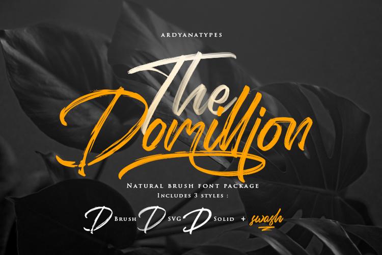 Domillion Brush Free Font