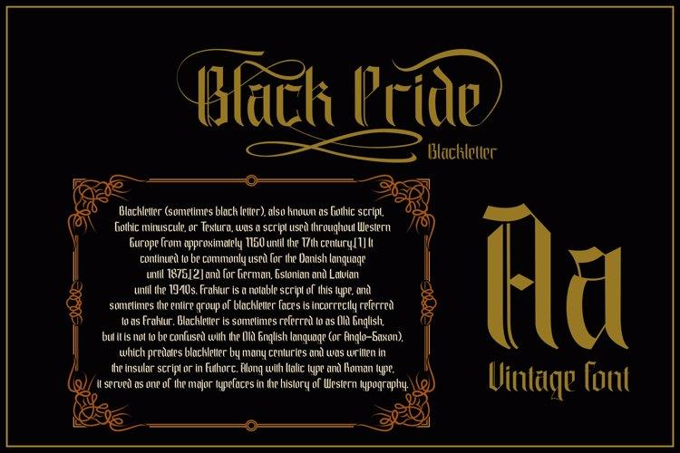 black pride Font