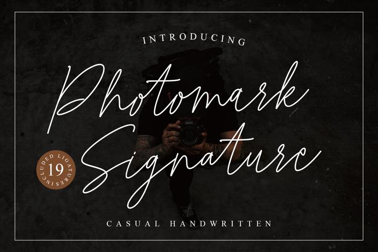 Photomark Signature Font