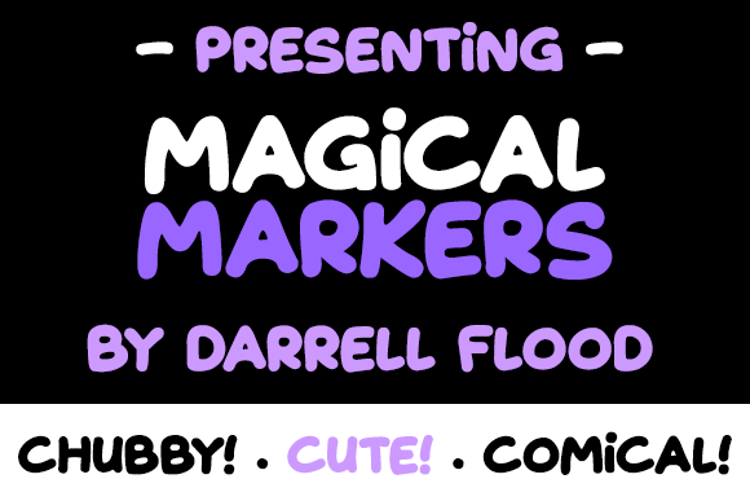 Magical Markers Font