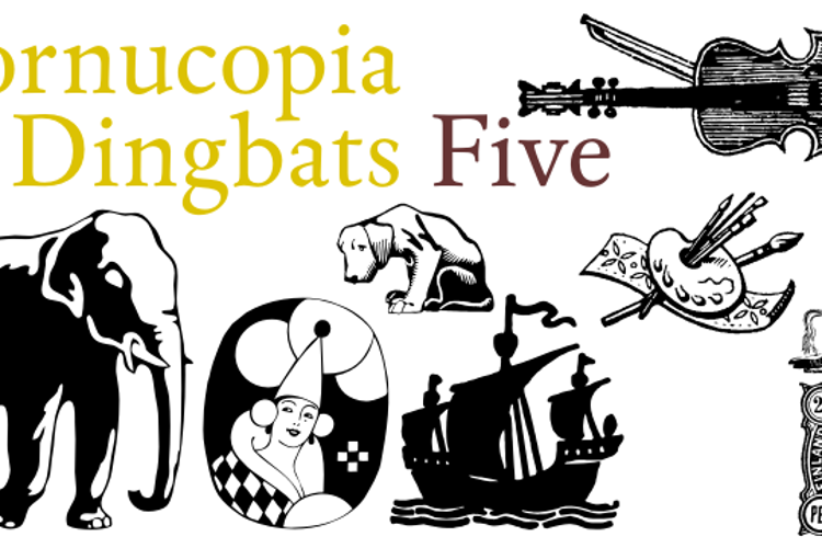 Cornucopia of Dingbates Five Font