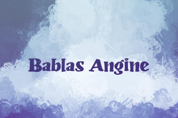 b Bablas Angine Font