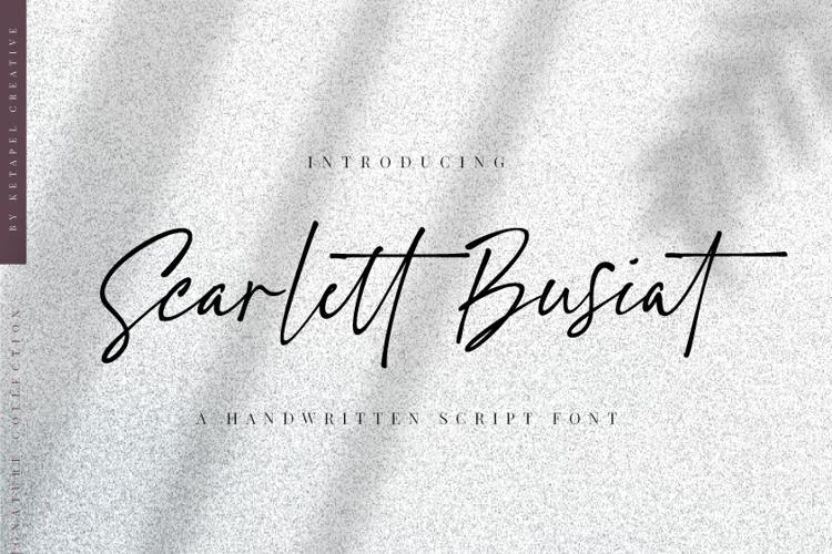 Scarlett Busiat Font