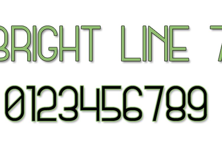 Bright Line 7 Font