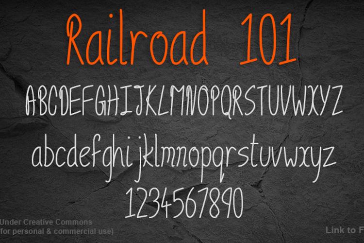 Railroad 101 Font