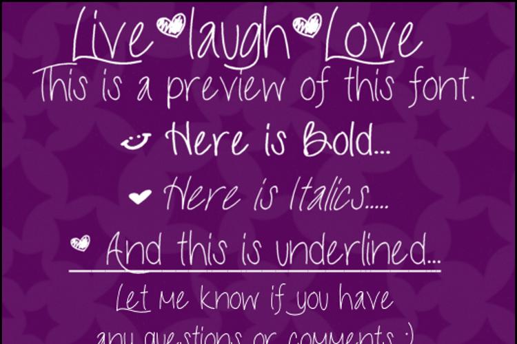 LiveLaughLove Font