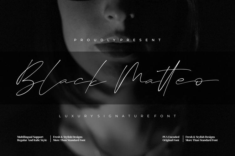 Black Matteo Font
