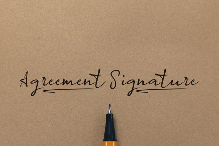 a Agreement Signature Font