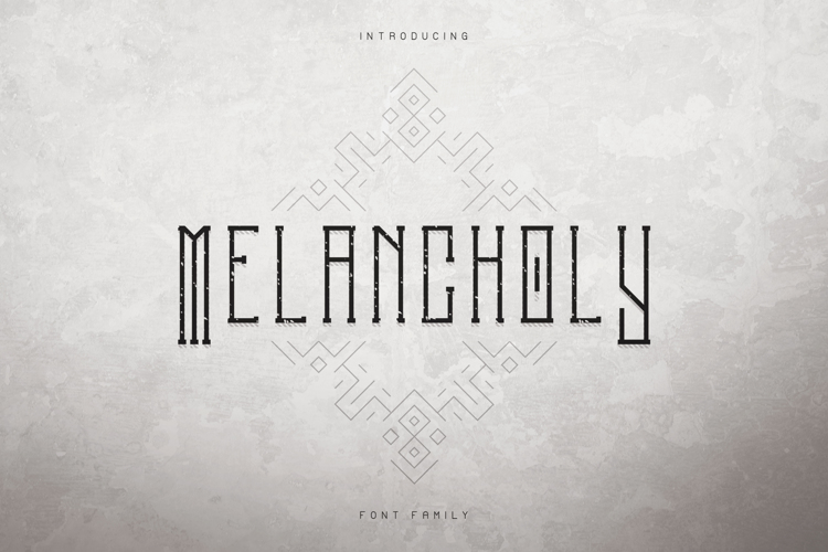 MELANCHOLY DISPLAY TYPEFACE Font