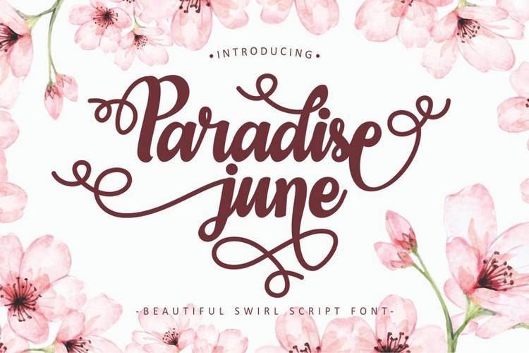 Paradise June Font