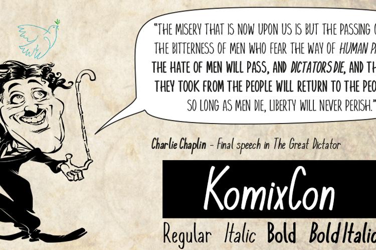 KomixCon Font