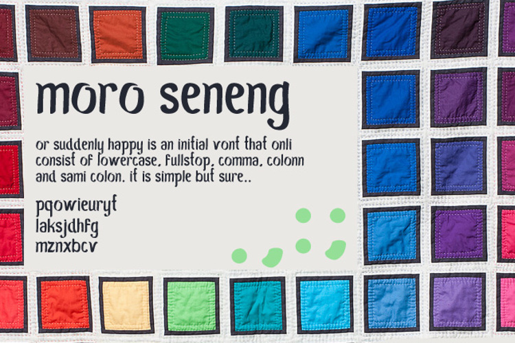 Moro Seneng Font