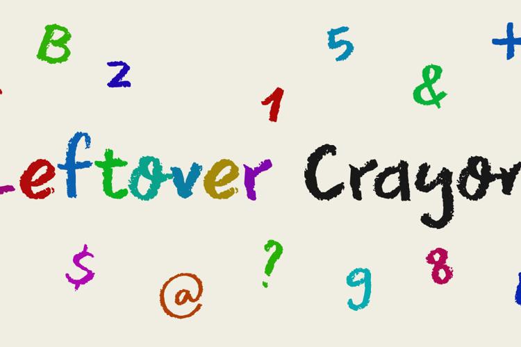 DK Leftover Crayon Font