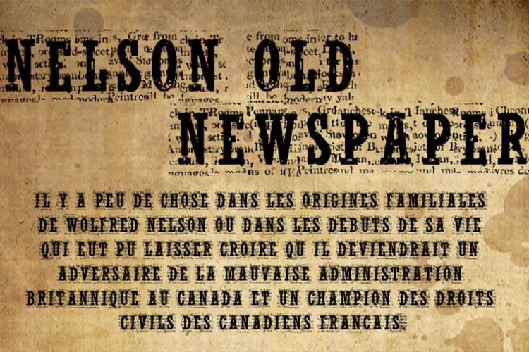 NelsonOldNewsPaper Font