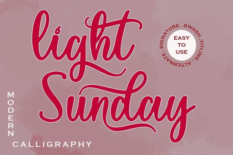 Light Sunday Font