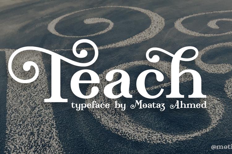 Teach Demo Font