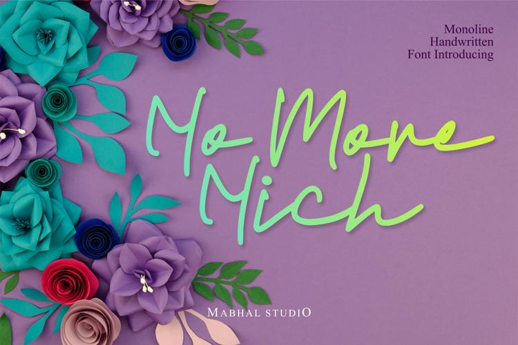 No More Nich Font