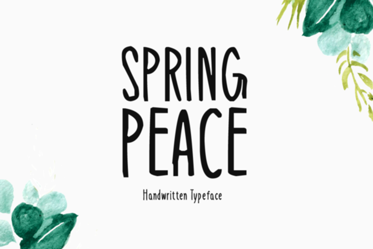Spring Peace Font