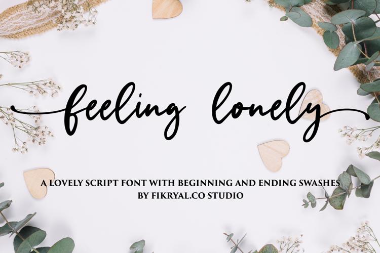 feeling lonely Font