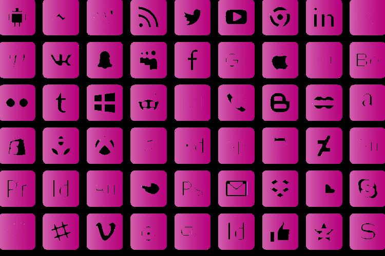 font social media