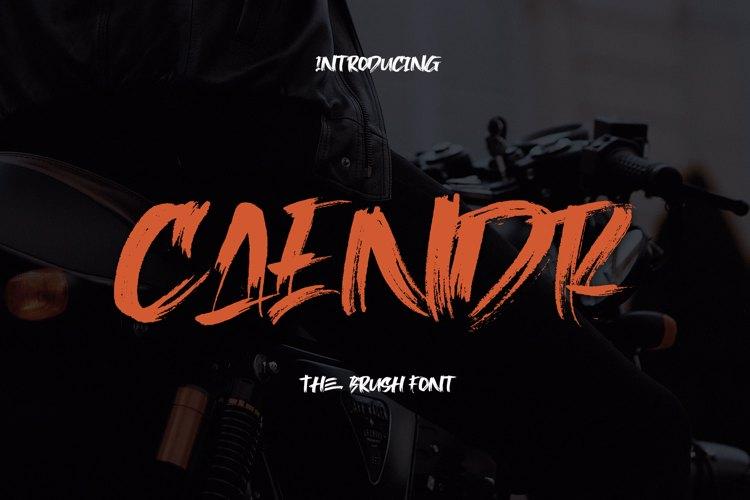 Caendr - Brush Font