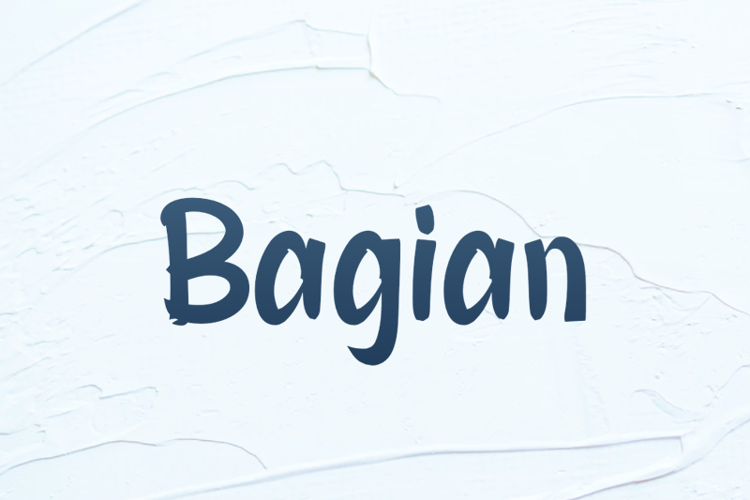 b Bagian Font