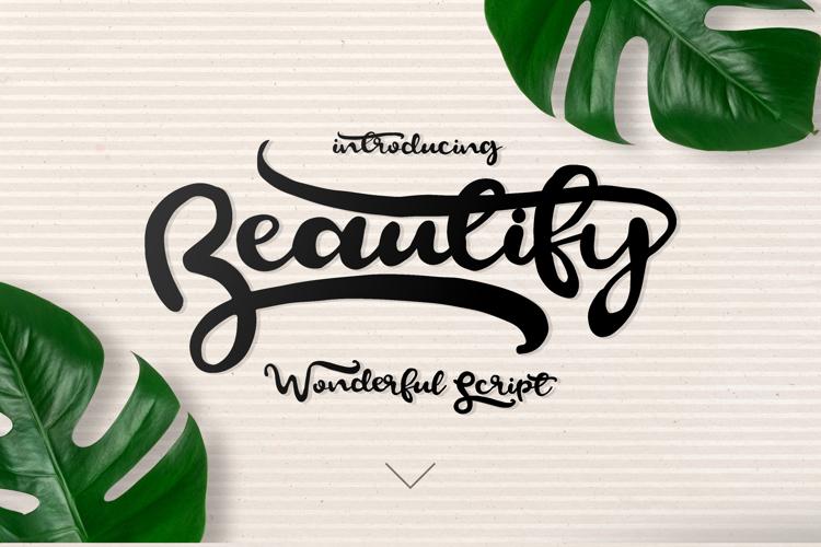 Beautify Script Font
