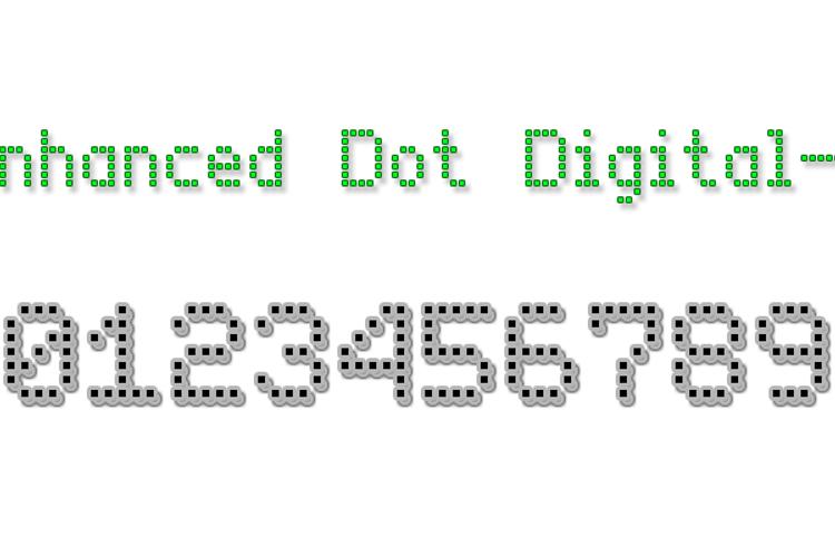 Enhanced Dot Digital-7 Font