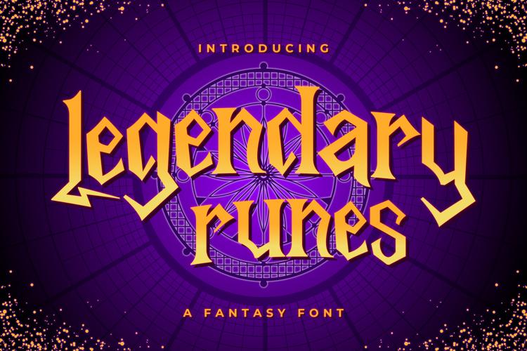 Legendary Runes Trial Font