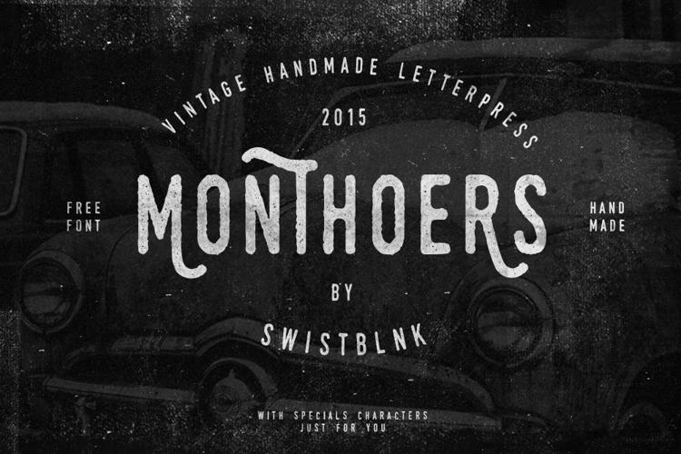 Swistblnk Monthoers Font