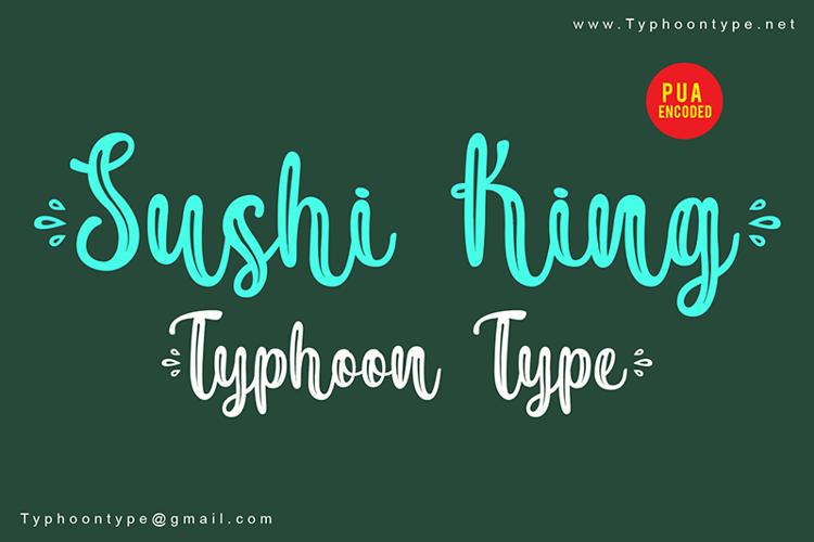 Sushi King - Font