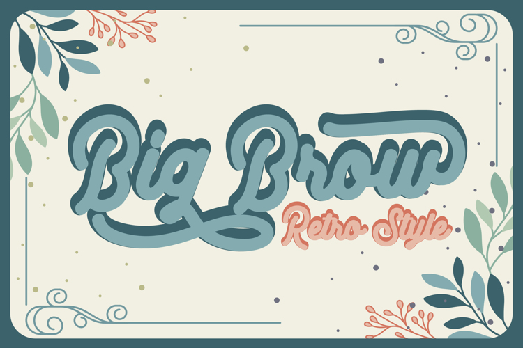 Big Brow Font