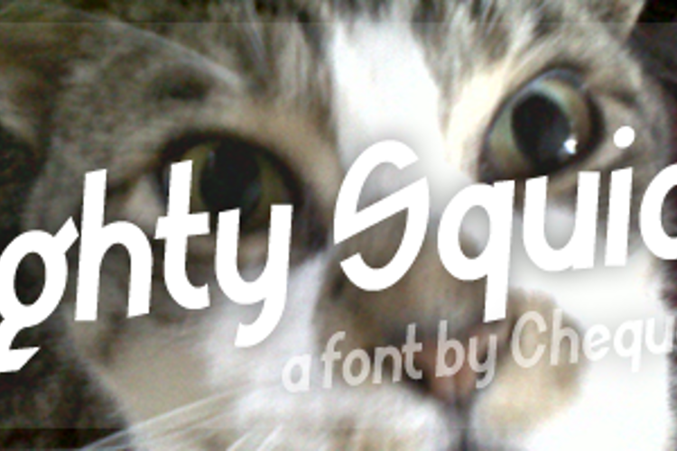 Mighty Squidge Font
