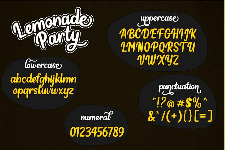 Lemonade Party Font
