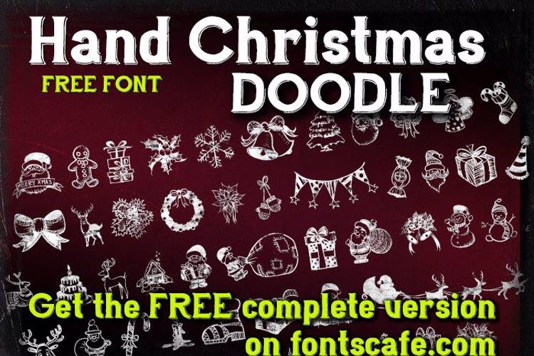 Hand Christmas Doodle Font