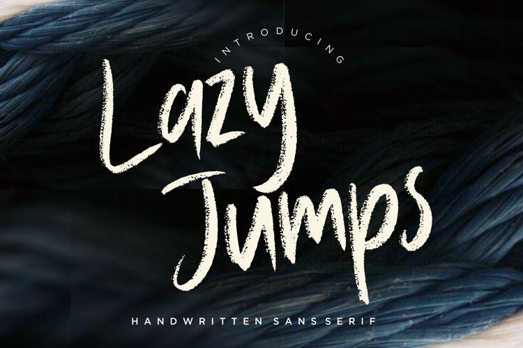 Lazy Jumps Sans Serif Font