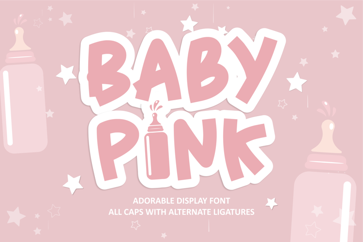 Baby Pink Font
