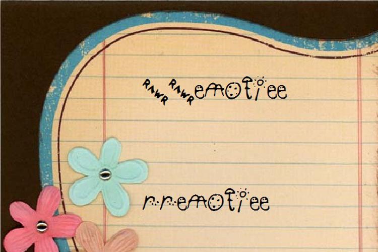 RREmotiee Font