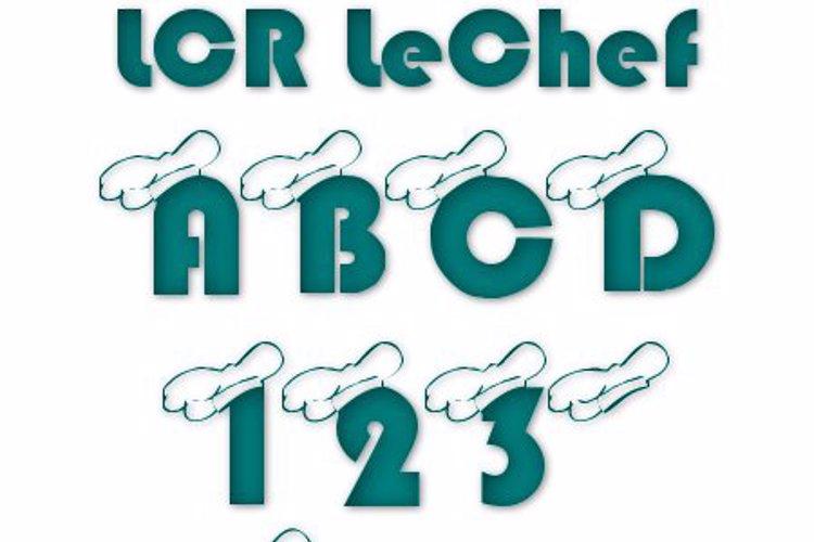 LCR LeChef Font