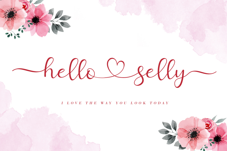 Hello Selly Font