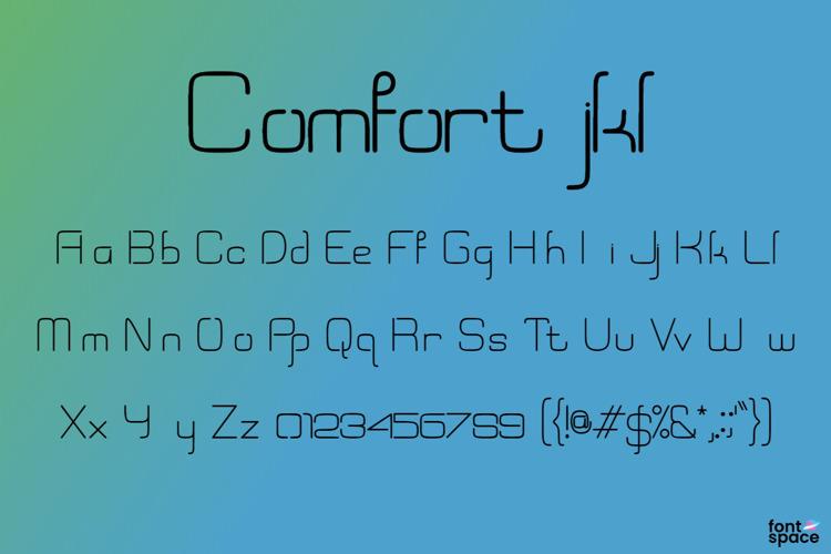 Comfort jkl Font