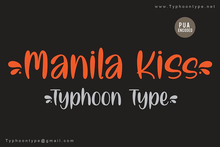 Manila Kiss - Font